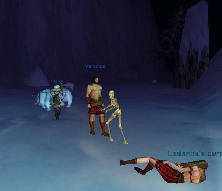 A screenshot of the Everfrost newbie area circa early 2001